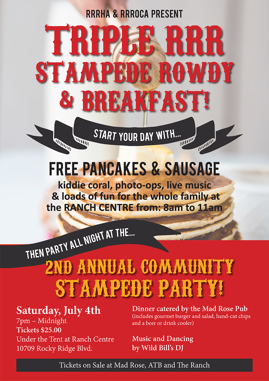 Join Us At The Rrroca Stampede Breakfast Amp Party Rocky